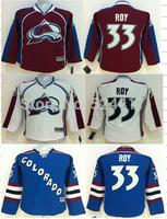 Youth Colorado Avalanche Hockey Jerseys #33 Patrick Roy Jersey Home Burgundy Jerseys