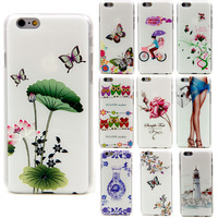 Case for iphone6 &iphone6 plus emboss floral hard back cover new arrival Protection shell top classical fashion styles case