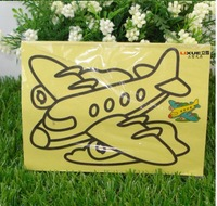 Children's Educational Toys 12.5X16.8cm safety and environmental diy handmade sand painting children's toys free shipping