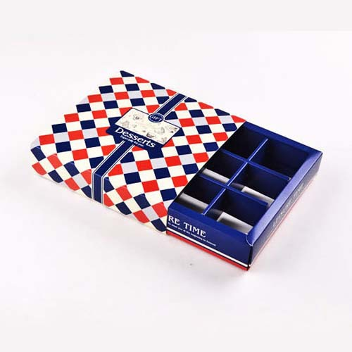 Bakery 9 Grid Navy Blue Macaron Packaging Paper Box Chocolate Boxes Packaging for Gifting Cookie Box(20 sets/lot)(China (Mainland))