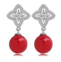 new design sweet star drop earrings for women statement jewelry for female drop pearl earrings women earrings korean jewelry