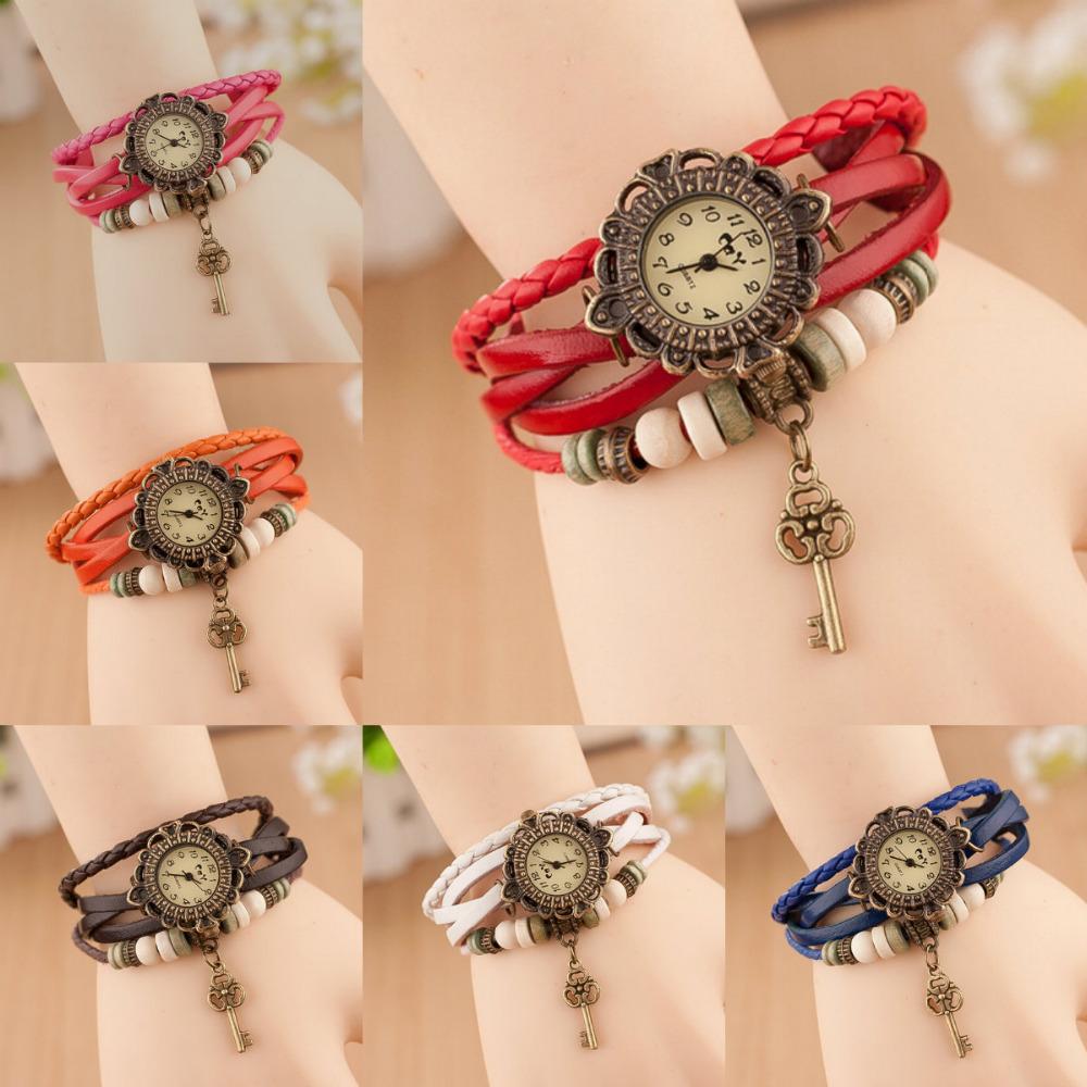 Hot new unique design restoring ancient ways women fashion bracelets table, female watch bracelet table keys(China (Mainland))