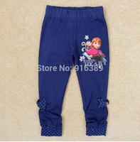 Wholesale-Frozen legging Children Girls Leggings Autumn Spring Girl's Cartoon Tights Kids Trousers Childs bowknot leggings