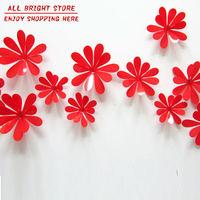 12pcs home decoration 3D flowers Wall Sticker Mariposas Docors arte DIY decoraciones de papel