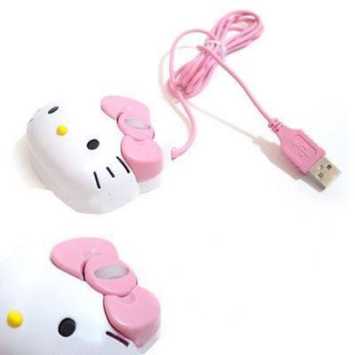 New Hello Kitty Optical Mouse 1200dpi USB Mouse For Laptop PC Free Shipping(China (Mainland))