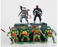 Teenage Mutant Ninja Turtles Splinter Leonardo Michelangelo Donatello Raphael Classic Collection Figures Toys 6pcs/set
