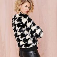2014 Hot Sale New Arrival Freeshipping Faux Fur Wide-waisted Full Regular Faux Fur Coat Winter Sleeve Faux Fur Women Jackets
