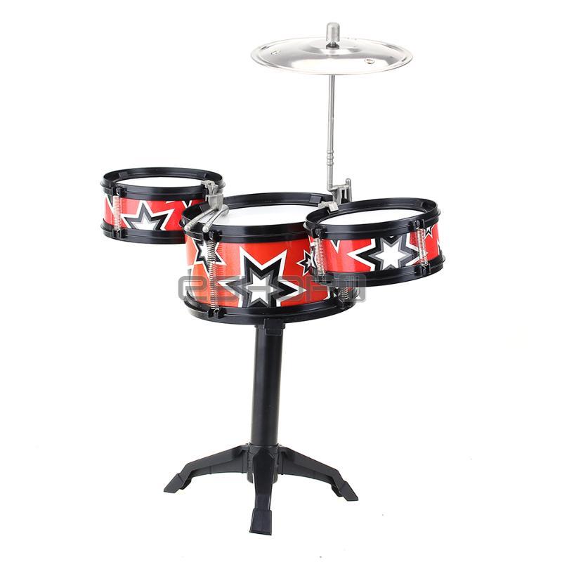 Set Band Jazz Drum Rock Children Kids Toddler Christmas Gift Music Toy(China (Mainland))