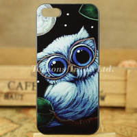 fashion Personality painting owl series hard phone case cover for iphone 5 5S I5T0903
