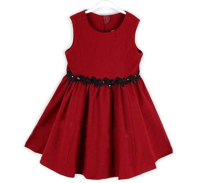 Baby girls christmas red dresses toddler girl birthday party dresses
