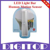 LED Light Bar - Human Motion Sensor Detector Night Light, Lamp Cabinet Kitchen Wardrobe Cupboard Closet Free Shipping