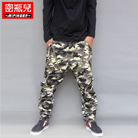 2014 Time-limited Real Freeshipping Flat Mens Joggers Men Pants Autumn Camouflage Pants Casual Male Big Zipper Harem Plus Size