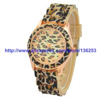 Casual Watch Geneva Wristwatches Man Quartz  Women Dress Watch Girl Women's Fashion Leopard Analog Watches 100pcs/lot 5Colors