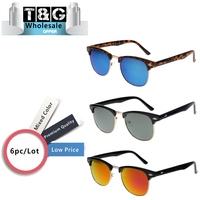 Wholesale Clubmaster Sunglasses Inspired Retro Semi Rimless Sun glasses Gafas Vintage Sunglasses Women Coating Fashion Oculos