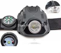 5PCS/lot,DHL Freeshipping WristLight Variable-Output LED Flashlight with 180 Lumen LED  +  compass(Portable Wrist flashlight)