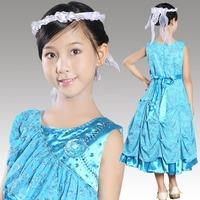 2014 New Hot Brand Baby Girls Dresses girls Princess Party Dress, Cute Frozen Tutu Qaulified Perform Cloth, Princesses Dress H25