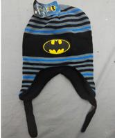 Very Cool Batman Winter Warm Fur Knitting 2~5 Years Children Boy Ear Protection Bomber Hats