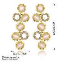 new 2014 opal earrings, gold /rose gold / white gold plated jewelry chandelier  dress earrings