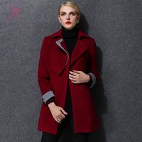 XL-5XL Big Size Women Winter Wool Coat Suit Collar Pure Color Double-Sided Thicken Wool Coat Sobretudo Women Jackets