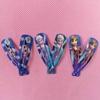 Promotion 96PCS/Lot Frozen Elsa Anna Olaf Hair Clip Hairpin Barrettes Cute Cartoon Hair Clip Accessories For Children Girls Kids
