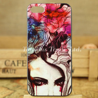 fashion beautiful art painting lady series hard phone case cover for iphone 5 5S I5T1033
