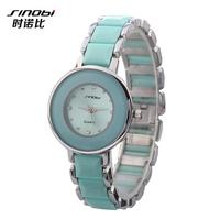 Noble Elegant Ladies Luxury SINOBI Brand Quartz Watch, Diamond ornament set Women Dress Watches relogio.