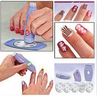 DIY Design Kit Professional Nail Art Salon Express Decals Stamp Stamping Polish Nail Decoration Tools