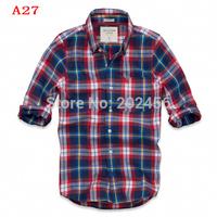 Wholesale&retail -hot sell ! 2014 Men's Shirts Brand cotton Men's long sleeve shirt fashion shirt for young men Free shipping A