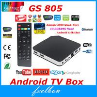 Amlogic S805 Quad Core Android Tv Box,1G/8G XBMC H.265 Ultra HD Set Top Box,Android4.4 Media Player Smart Mini PC