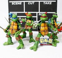 Free Shipping NECA Original TMNT Teenage Mutant Ninja Turtles Set 4 Playmates PVC Action Figure Collection Toy 4pcs/set