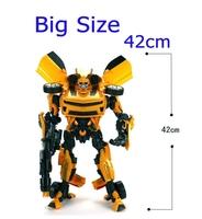 Toys for children Education brinquedos meninos Action Figure toys 42cm robot Bumblebee Robocar car model