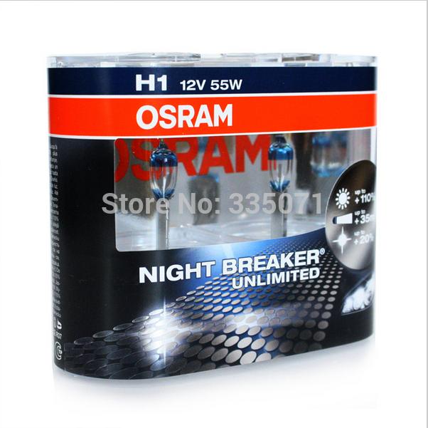 Free shipping!! Car headlight OSRAM halogen lamp NIGHT BREAKER UNLIMITED 64150NBU H1 55W 12V 3400K, Made In Germany(China (Mainland))
