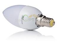 LED Candle Bulb High quality E14 3W LED Candy Lamp low-Carbon life SMD2835 AC220-240V Warm White/White  6pcs/lot