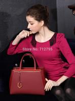 New female classical cross grain Cowhide handbag restoring ancient ways genuine leather Shoulder Bag