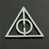 10pcs/lot 28*32mm Black brushed color Harry Potter and the Deathly Hallows charms