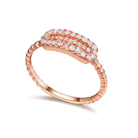 new brand design fashion woman sell well 18K gold ring ring cyclotron dance CZ Ring 109043