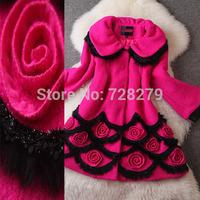 2014 Fashion Coat Winter Outwear Women's Clothing Fashion Woolen Long Patchwork design Wool Coat
