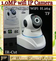 2014 New 1.0 MegaPixel HD Wireless Wifi IP CCTV Camera with Pan/Tilt 32G tf card IR Cut 720P H.264 P2P PnP Free shipping