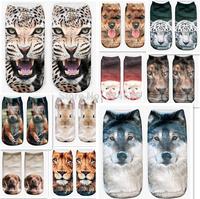 3D Print Animal men's and women Socks Casual Cute Animal modelling Socks Unisex Low Cut Ankle Socks Multiple Colors Style