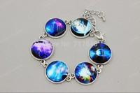 The Newest Galaxy Stars Photos Resin Bracelet Everyday Bracelet, Adjustable Sizes ,Great gift, min order $10.0 3pcs #028