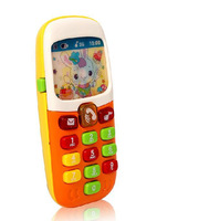 Free Shipping Kid Toy Cellphone Mobile Phone Early Educational Learning Toy Machine Music Electric Phone Model Best Gift for kid