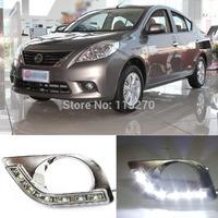 Car Daytime Running Lights LED DRL Daylight for Sunny 2011-2012 (Pack of 2)