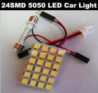 Wholesale T10 BA9S 24 SMD 5050 LED Car Light 12V LED Reading Panel Light Car Styling 200PCS/lot