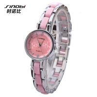 SINOBI Lxury Brand Quartz Wristwatch three-dimensional Flower Women Dress Watches Stainless Steel Casual Watch