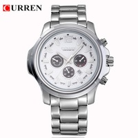Free Shipping CURREN Luxury Men Business Casual Brand Watches,Korean Date New Fashion Water Resistant Analog Steel Quartz Watch