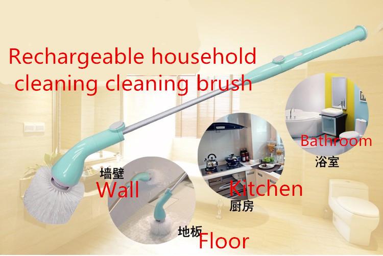 Cordless Multifunction / cleaning tile floor tiles / brush machine / telescopic skillet / household bathroom cleaner(China (Mainland))