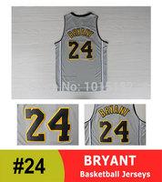 Kobe Bryant Gray Anniversary Jersey Los Angeles #24 Basketball Jersey Gray Free Shipping