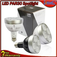 Free Shipping LED Par30 Bulb 24W E27 AC 85-265V LED SpotLight High power Bedroom lamp Warm|Normal white black/white shell 10pcs