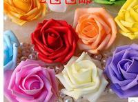 Free Shipping Simulation Rose (100 pcs / Lot) 6- 7 cm foam rose handmade DIY wedding home decoration artificial flower festival