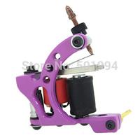 Tattoo Machine New Sale Electric 2014 Trendy Handmade Tattoo Machine Gun Silver Pink Color 10 Wrap Coils Shader Liner Supplies